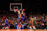 Milwaukee Bucks v New York Knicks  New York  NY - February 23: Carmelo Anthony and Andrew Bogut