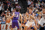 Phoenix Suns v New Jersey Nets  Newark  NJ - February 28: Steve Nash and Deron Williams