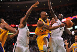 Los Angeles Lakers v Boston Celtics  Boston  MA - February 10: Kobe Bryant and Kevin Garnett