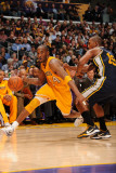 Utah Jazz v Los Angeles Lakers  Los Angeles  CA - January 25: Kobe Bryant and Raja Bell