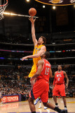 Atlanta Hawks v Los Angeles Lakers  Los Angeles  CA - February 22: Pau Gasol and Al Horford