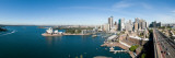 View of City  Sydney Opera House  Circular Quay  Sydney Harbor  Sydney  New South Wales  Australia