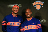 New York Knicks Introduce Carmelo Anthony  New York  NY - February 23: Carmelo Anthony and Chauncy 