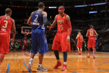 2011 NBA All Star Game  Los Angeles  CA - February 20: Carmelo Anthony and Joe Johnson