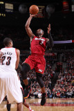 Miami Heat v Portland Trail Blazers  Portland  OR - January 9: Marcus Camby and Dwayne Wade