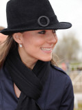 Kate Middleton arrives at Cheltenham Racecourse in Gloucstershire for the final day of racing at Na