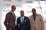 2011 NBA All Star Game  Los Angeles  CA - February 20: Chris Bosh  Dwyane Wade and LeBron James