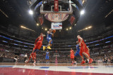 2011 NBA All Star Game  Los Angeles  CA - February 20: Derrick Rose  Carmelo Anthony and Kevin Love