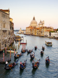 Flotilla of Gondolas Heading Toward Chiesa Di Santa Maria Della Salute in Early Evening