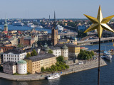 One of the Gold Stars Atop City Hall Tower Overlooking Gamla Stan  Old City