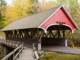 Covered Bridge over Pemigewasset River  White Mountains