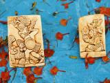 Souvenirs Depicting Mayan Figures at Chichen Itza Site