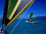 Sea Kayakers under Sail  Furneaux Islands  Bass Strait