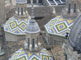 Tiled Domes of Cathedral (Basilica De Nuestra Senora Del Pilar)  from Main Dome