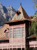 Traditional Romanian House in Busteni at the Foot of the Bucegi Mountains