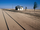 Abandoned Railway Station in Namib Desert Between Aus and Luderitz