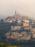 The Hillside City on a Misty Morning