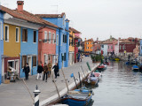 Colourful Houses Along Fond Della Pescheria Canal
