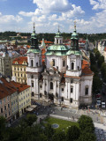 Kilian Dietzenhofer's Baroque St Nicholas Church from Old Town Hall Tower