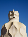 Chimney Pots on Roof of Casa Mila  also known as La Pedrera  Designed by Antoni Gaudi