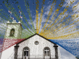 Ponta Delgada Church with Festival Decoration
