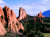 Rock Formations Extending into Valley  Garden of the Gods Park