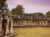 Tourist Group with Guide at Terrace of the Elephantsts  Angkor Thom