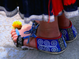 Detail of Tip Top Miao Woman's Traditional Shoes