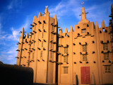 Traditional Sahel Mud-Brick Mosque  Built in 1935  on the River Niger  East of Mopt