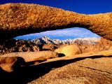 Mt Whitney Through Arch in Alabama Hills  Eastern Sierras