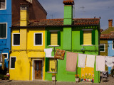 Colorful Houses and Laundry