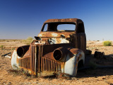 Derelict Truck Near Farina Ghost Town  Lyndhurst-Marree Road