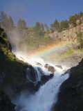 Latefossen Waterfall Near Odda