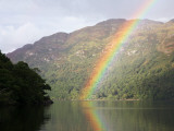 Rainbow over Loch Lomond  Loch Lomond and the Trossachs National Park