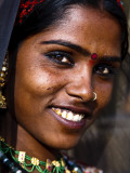Portrait of Woman in Traditional Dress at the Pushkar Camel Fair