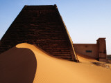 Pyramids and Tombs in Royal Cemetery  Meroe North of Khartoum