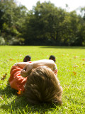 Child Relaxing in Royal Botanic Gardens