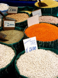 Grains and Pulses for Sale in Street Market  Sultanahmet
