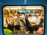 Peak Hour Commuters on Shanghai Metro  Line 2