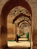 Archways of Old Granary in Meknes