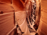 Zebra Slot Canyon  Formed in Jurassic Age Navajo Sandstone