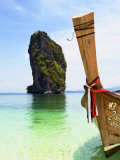 Wooden Boat and Limestone Island Surrounding Poda Island
