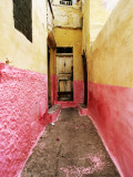 Bright Narrow Alley in Backstreet Souk