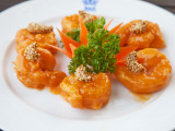 Sauteed Prawns in Mandarin Sauce at Rex Hotel Rooftop Restaurant