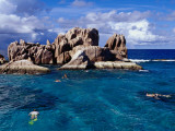 Snorkellers Near Granite Outcrops