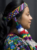 Woman Dressed with Huipil from Concepcion Chiguirichapa