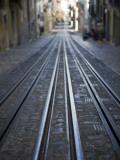 Tracks of Elevador Da Bica Funicular Railway