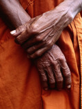 Close Up of Monk&#39;s Hands