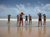 Aerobics Class on Praia Do Ponta Negra Beach