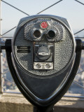 Binoculars on Empire State Building Observation Deck